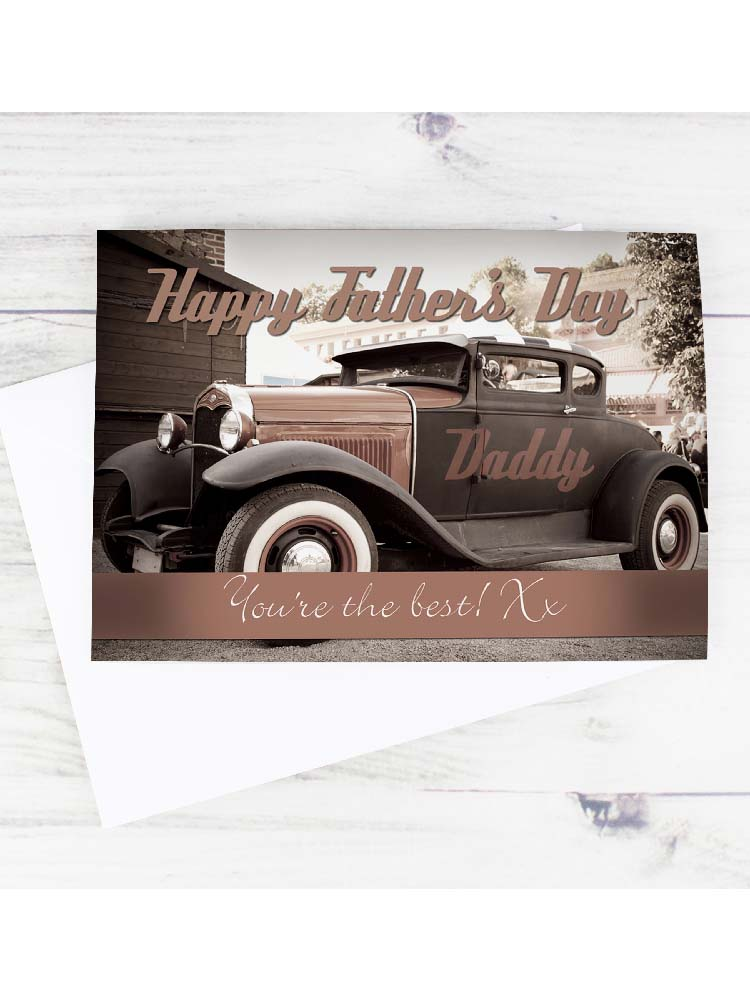 Personalised Classic Car Father's Day Card