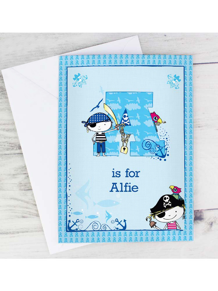 Personalised Pirate Card