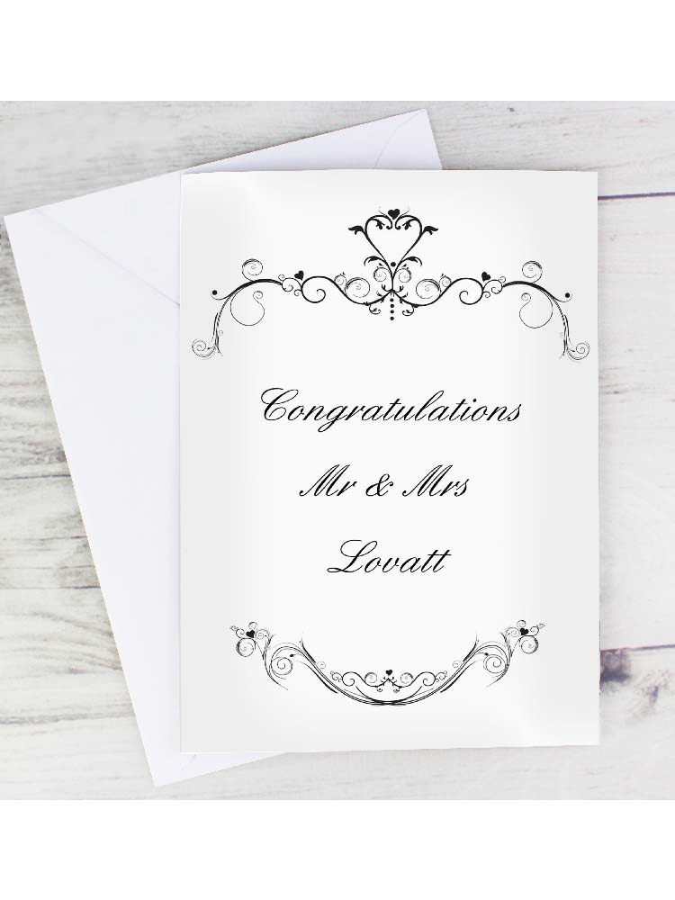 Personalised Ornate Swirl Card