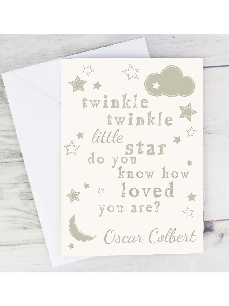 Personalised Twinkle Twinkle Card