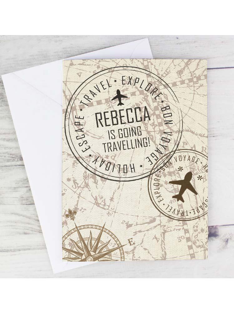 Personalised Travel Stamp Card