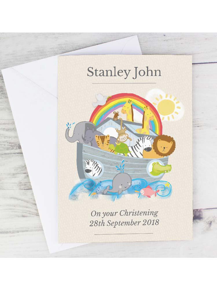 Personalised Noah's Ark Card