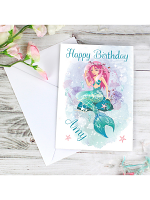 Personalised Mermaid Card