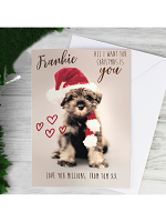 Personalised Rachael Hale 'All I Want For Christmas' Puppy Card
