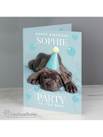 Personalised Rachael Hale 'Party 'Til You Drop' Card