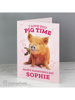 Personalised Rachael Hale 'I Love You Pig Time' Card