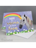 Personalised Rachael Hale Unicorn Card