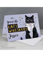 Personalised Rachael Hale You're the Cats Whiskers Card