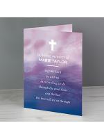 Personalised In Loving Memory Cross Card