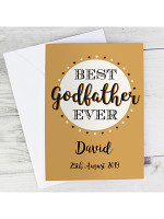 Personalised Best Godfather Card