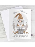 Personalised Scandinavian Christmas Gnome Card