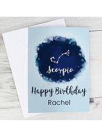 Personalised Scorpio Zodiac Star Sign Card (October 23rd - November 21st)