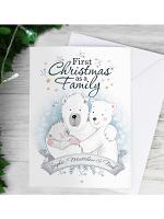 Personalised Polar Bear '1st Christmas As A Family' Card