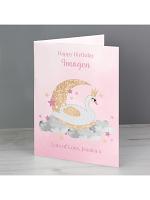 Personalised Swan Lake Card