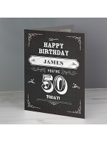 Personalised Vintage Typography Birthday Card