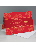 Personalised Paisley Wedding Card