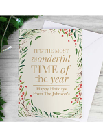 Personalised Â'Wonderful Time of The YearÂ' Christmas Card