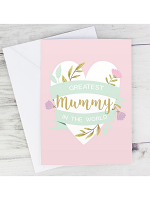 Personalised Floral Heart Mother's Day Card