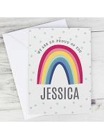 Personalised Rainbow Card