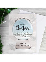 Personalised Christmas Snow Globe Card