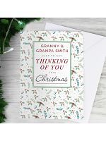 Personalised Thinking of You Christmas Card