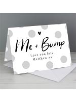 Personalised Me & Bump Card
