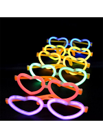 Glow In The Dark Heart Glasses