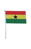 Ghana Hand Held Flag