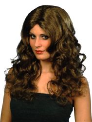 Glamour Wig - Brown Long Curls (Quantity 1)