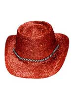 Glitter Cowboy Hat Red