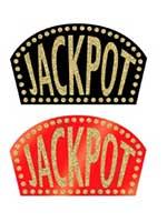 Glittered Casino Jackpot Sign (1 In A Pack)