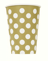 Gold Dot Cups 9""
