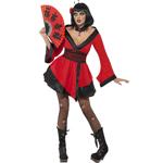Gothic Geisha Woman Costume