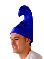 Smurf Hat - Blue Velour hat