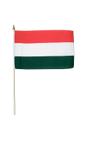 Hungary Hand Waving Flag