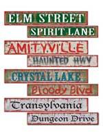 Halloween Street Sign Cardboard Cutouts
