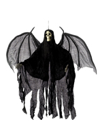 Hanging Skeleton Angel Decoration - Black