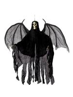 Hanging Skeleton Angel Decoration - Black