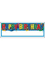 Happy Birthday Banner Blank Sign Massive