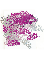 Birthday Glitz Pink - Happy Birthday Confetti