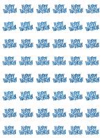 Birthday Glitz Blue - Happy Birthday Prism Hanging Decoration
