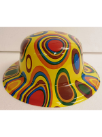 Psychedelic Circle Design Bowler Hat