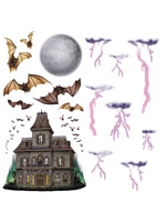 "Haunted House & Night Sky Props 7""-40"""