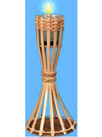 "Hawaiian Tabletop Bamboo Torch 11.5"" Includes Candle (1)"