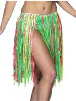 "Hawaiian Adult Multi-Colour Hula Skirt, 56 cm/22""length"