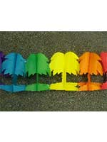 Hawaiian Decoration 'Palm Tree' Assorted Colour Garland (1)