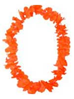 Hawaiian Island Lei Silky Flower Garland - Orange  * 8 only in stock *