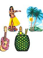 Hawaiian Luau Cutout Decoration