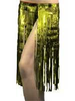 Hawaiian Tinsel Skirt - Gold