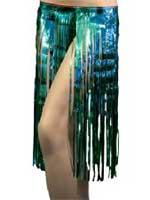 Hawaiian Tinsel Skirt - Turquoise